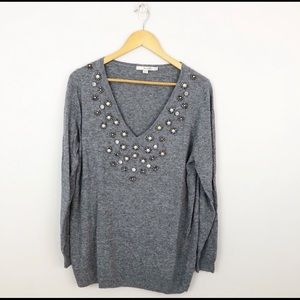 BODEN size 10 gray cashmere blend tunic sweater